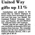 United Way Gifts up 11%
