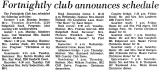 Fortnightly Club Announces...