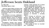 Jefferson Beats Oakland