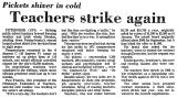Pickets Shiver in Cold