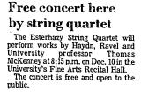 Free Concert Here by String...