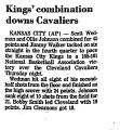 Kings' Combination Downs Cavaliers