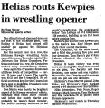 Helias Routs Kewpies in Wrestling...