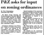 P& Z Asks for Input on Zoning...