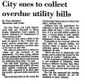 City Sues to Collect Overdue...