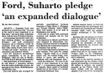 Ford, Suharto Pledge 'an Expanded...