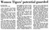 Women Tigers' Potential Guarded
