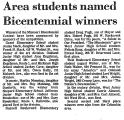 Area Students Named Bicentennial...