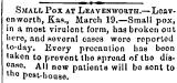 Small Pox at Leavenworth