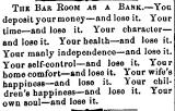 The Bar Room as a Bank