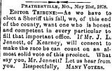 Pratherville, Mo., May 21st. 1878