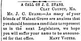 A Call on J. C. Evans