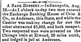 A Bank Robbery.-Indianapolis,...