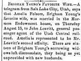 Brigham Young's Favorite Wife